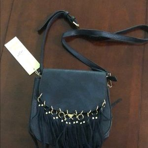 Madison West Navy Fringe Crossbody new with Tags